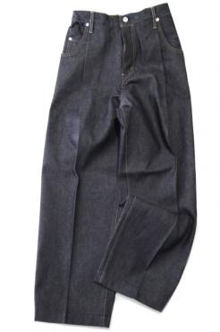 WIDE DENIM SLACKS RIGID