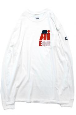 Printed L/S Pocket Tee WH