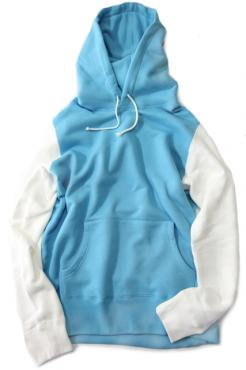 Color Block Hooded BL