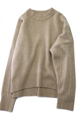 WOOL CASHMERE OVER KNIT BE