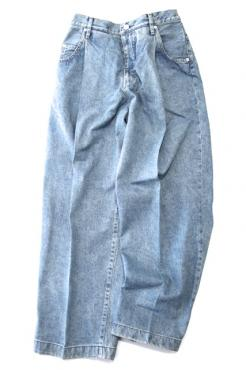 WIDE DENIM SLACKS USED
